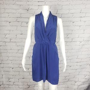 Wilfred Blue Silk Mini Dress